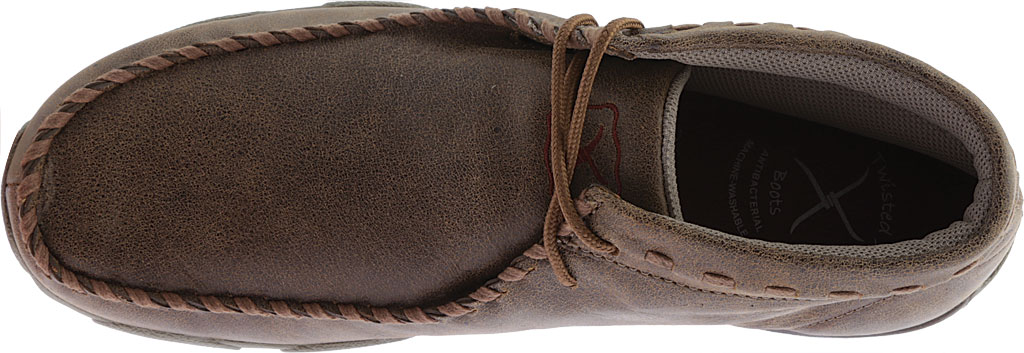 Men's Twisted X MDM0049 Driving Moc, Bomber/Taupe Leather, large, image 5