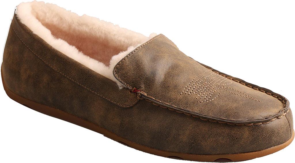 Men's Twisted X MSR0001 Moccasin Slipper, Bomber Leather, large, image 1