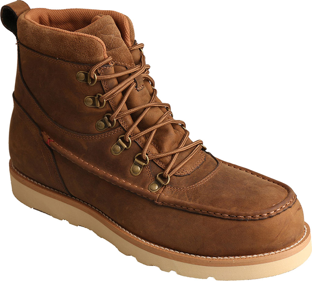 New Men's Twisted X MCAAW01 Casual Work Boot Shoe and Boot, Distressed Saddle Leather