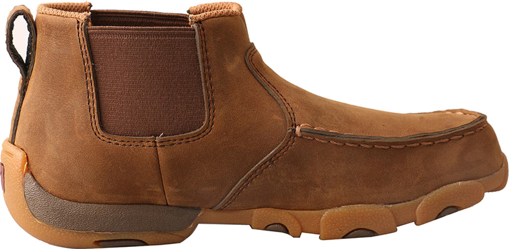 Children's Twisted X YDMG001 Driving Moc Bootie, Distressed Saddle Leather, large, image 2