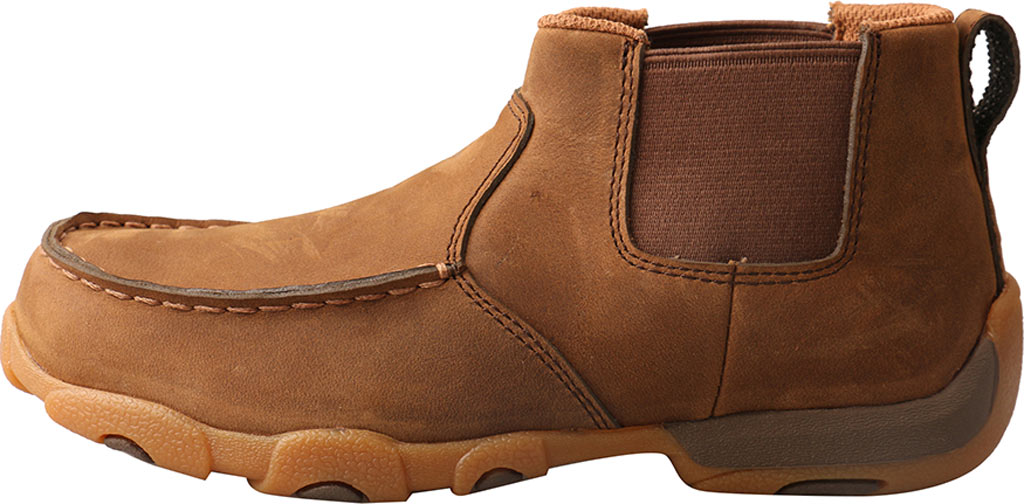 Children's Twisted X YDMG001 Driving Moc Bootie, Distressed Saddle Leather, large, image 3