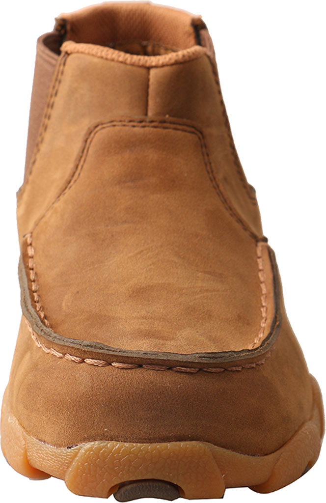 Children's Twisted X YDMG001 Driving Moc Bootie, Distressed Saddle Leather, large, image 4