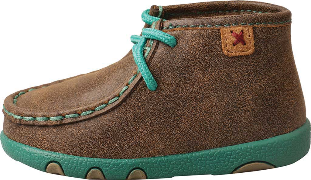 Infant Twisted X ICA0008 Driving Moccasin, Bomber/Turquoise Leather, large, image 3