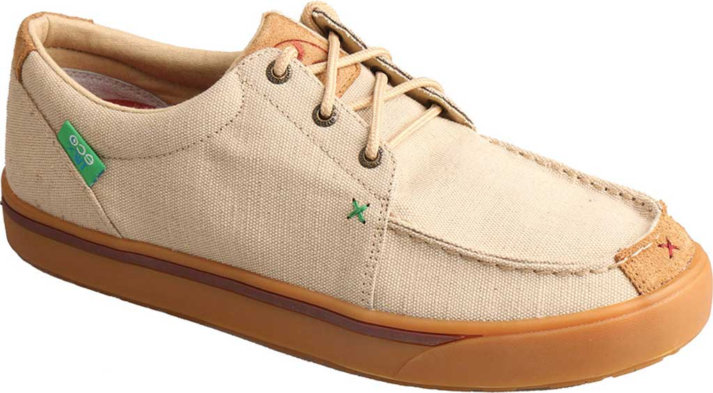 Men's Twisted X MHYC011 Hooey Lopers Oxford, Tan Canvas, large, image 1