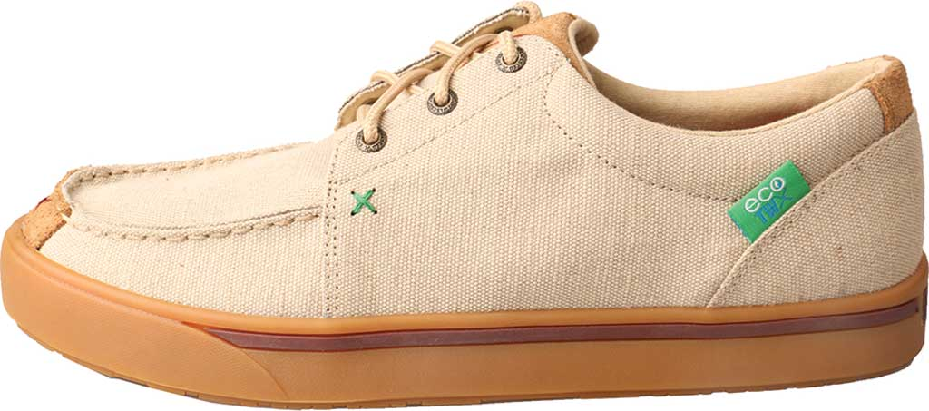 Men's Twisted X MHYC011 Hooey Lopers Oxford, Tan Canvas, large, image 3