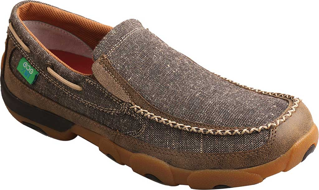 Men's Twisted X MDMS012 Driving Moc, Dust Canvas, large, image 1