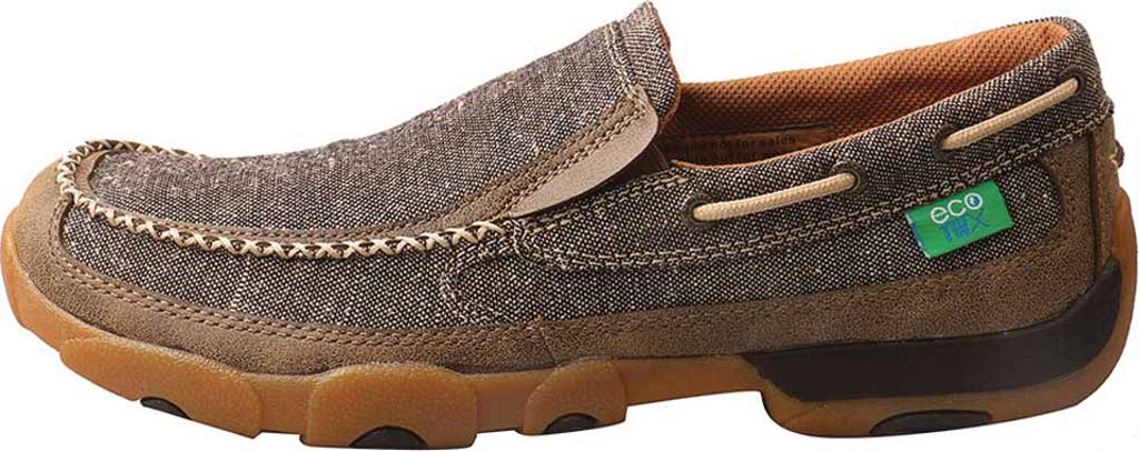 Men's Twisted X MDMS012 Driving Moc, Dust Canvas, large, image 3