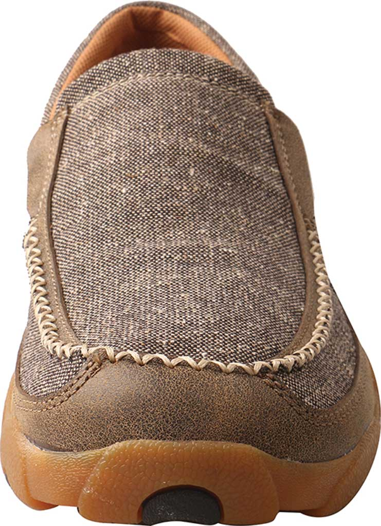 Men's Twisted X MDMS012 Driving Moc, Dust Canvas, large, image 4