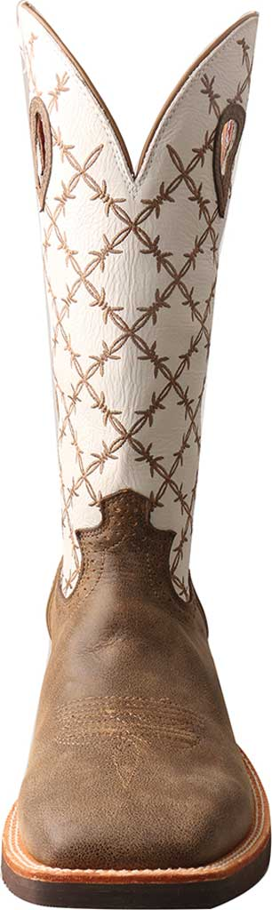 Men's Twisted X MRS0056 Ruff Stock Cowboy Boot, Bomber/White Leather, large, image 4