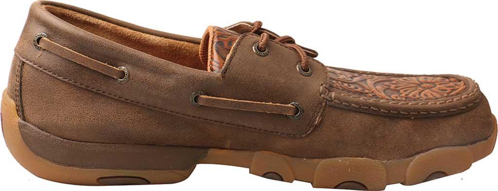 Men's Twisted X MDM0066 Driving Moc, Tan Tooled/Tawny Leather, large, image 2