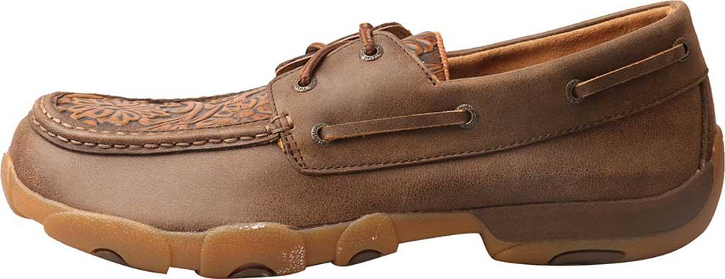 Men's Twisted X MDM0066 Driving Moc, Tan Tooled/Tawny Leather, large, image 3