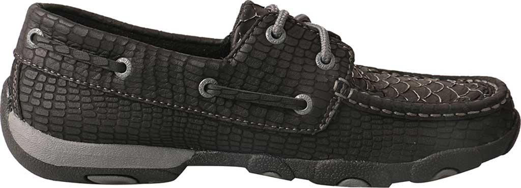 Women's Twisted X WDM0088 Driving Moc, Black Fish/Grey Leather, large, image 2
