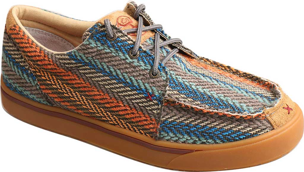 Men's Twisted X MHYC012 Hooey Moc, Multi Pattern Canvas, large, image 1