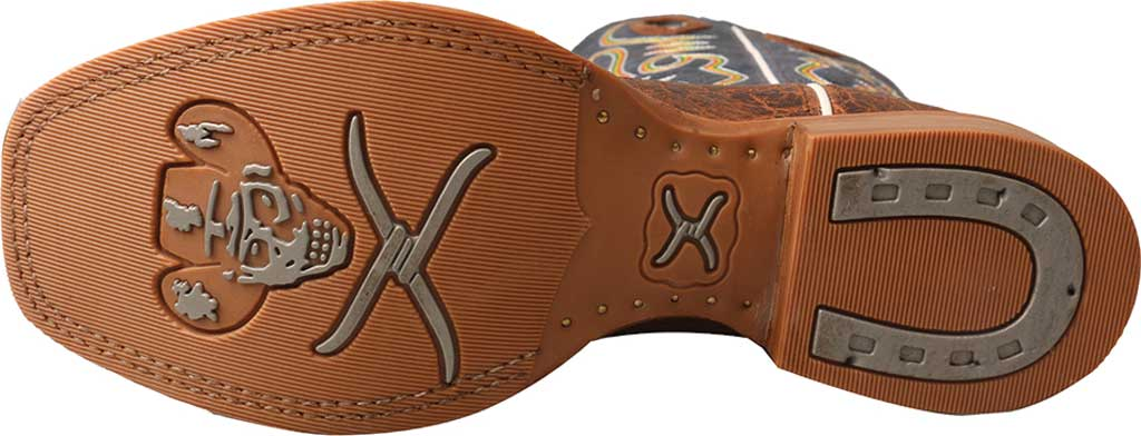 """Twisted X Men/'s 14/"""" Ruff Stock Elephant Print /& Blue leather Boots MRS0057"""