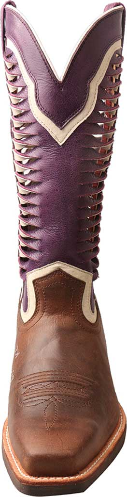 Women's Twisted X WRS0027 Ruff Stock Cowgirl Boot, Brown/Violet Leather, large, image 4