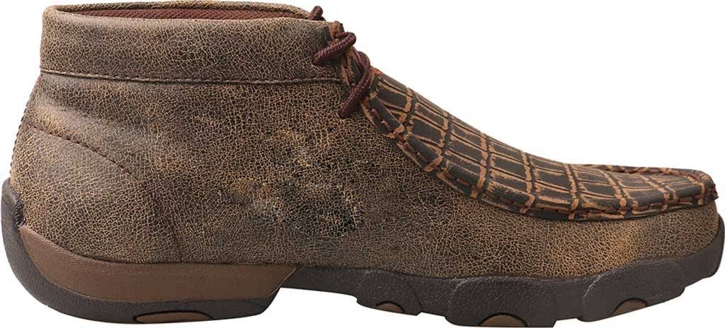 Men's Twisted X MDM0067 Driving Moc, Cayman Print/Brown Leather, large, image 2