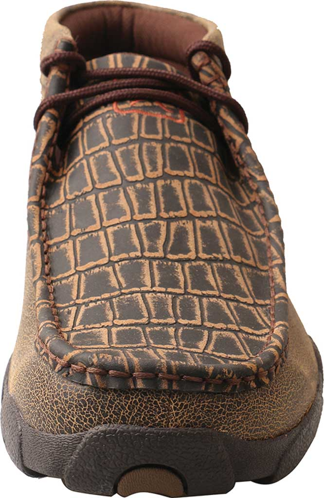 Men's Twisted X MDM0067 Driving Moc, Cayman Print/Brown Leather, large, image 4