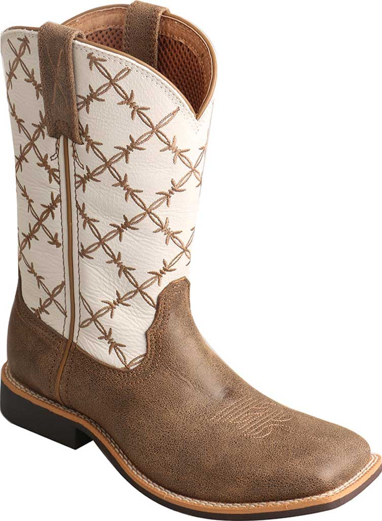 Children's Twisted X YTH0010 Top Hand Cowboy Boot, Bomber/White Leather, large, image 1