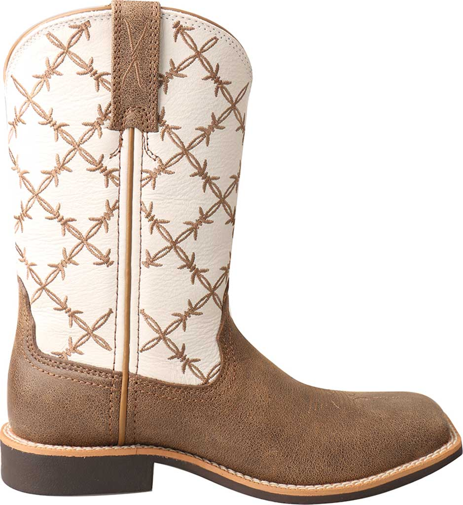 Children's Twisted X YTH0010 Top Hand Cowboy Boot, Bomber/White Leather, large, image 2