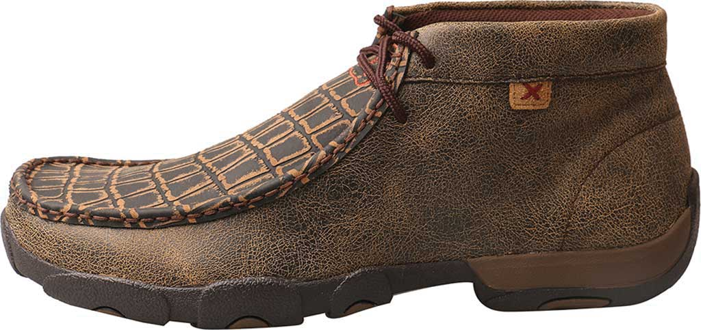 Men's Twisted X MDMAL02 Alloy Toe Driving Moc, Cayman Print/Brown Leather, large, image 3