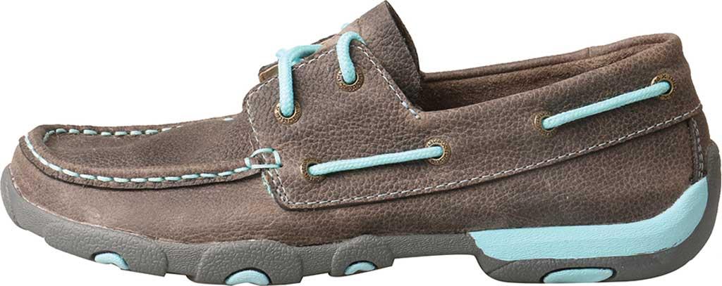 Women's Twisted X WDM0098 Boat Shoe, Grey/Light Blue Leather, large, image 3
