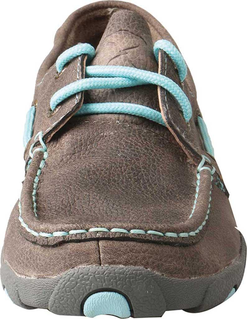 Women's Twisted X WDM0098 Boat Shoe, Grey/Light Blue Leather, large, image 4
