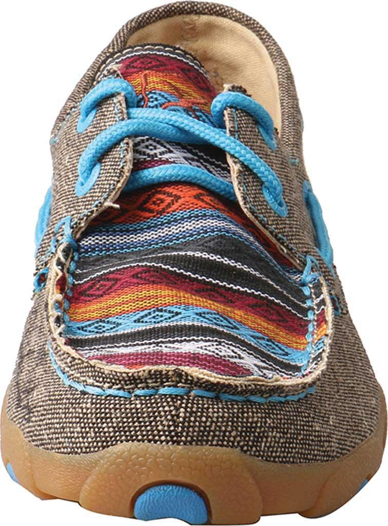 Women's Twisted X WDM0099 Boat Shoe, Dust/Multi Canvas, large, image 4