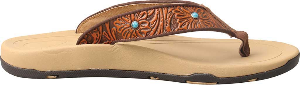 Women's Twisted X WSD0033 Thong Sandal, Tan/Tooled Leather, large, image 2