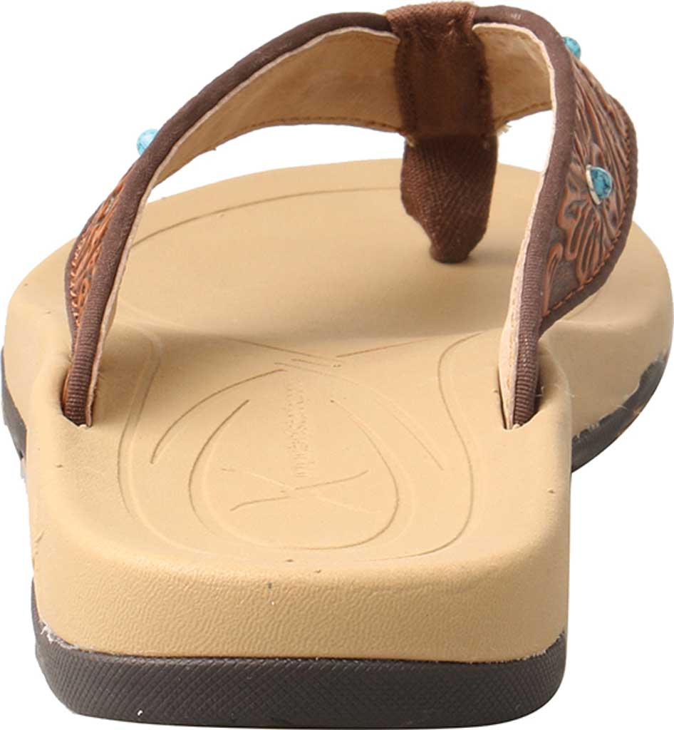 Women's Twisted X WSD0033 Thong Sandal, Tan/Tooled Leather, large, image 5