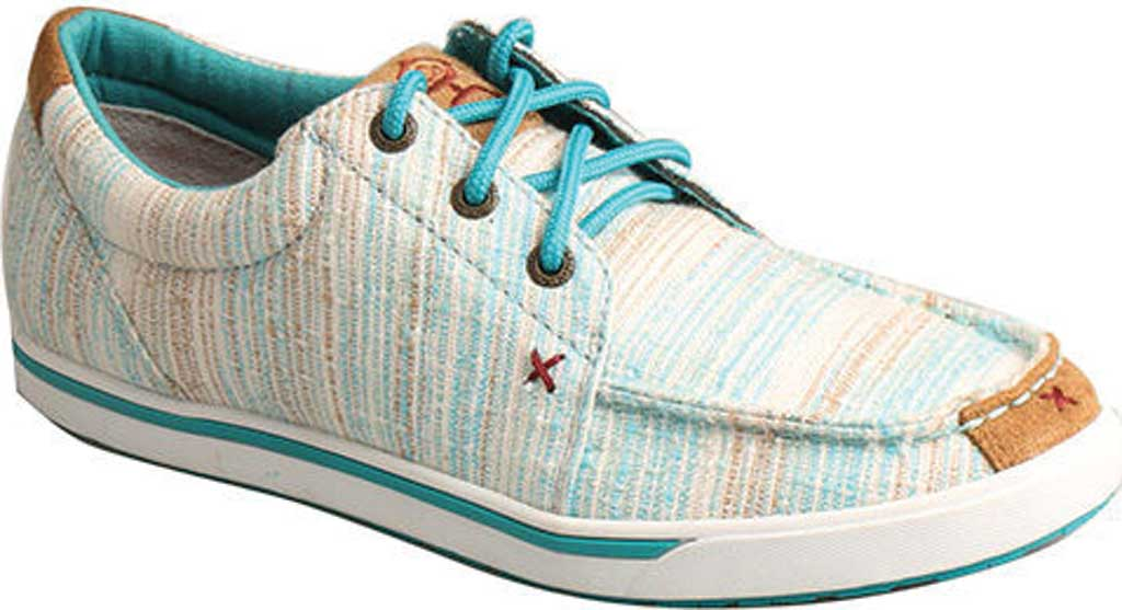 Women's Twisted X WHYC004 Hooey Lopers Sneaker, Blue/Multi Canvas, large, image 1