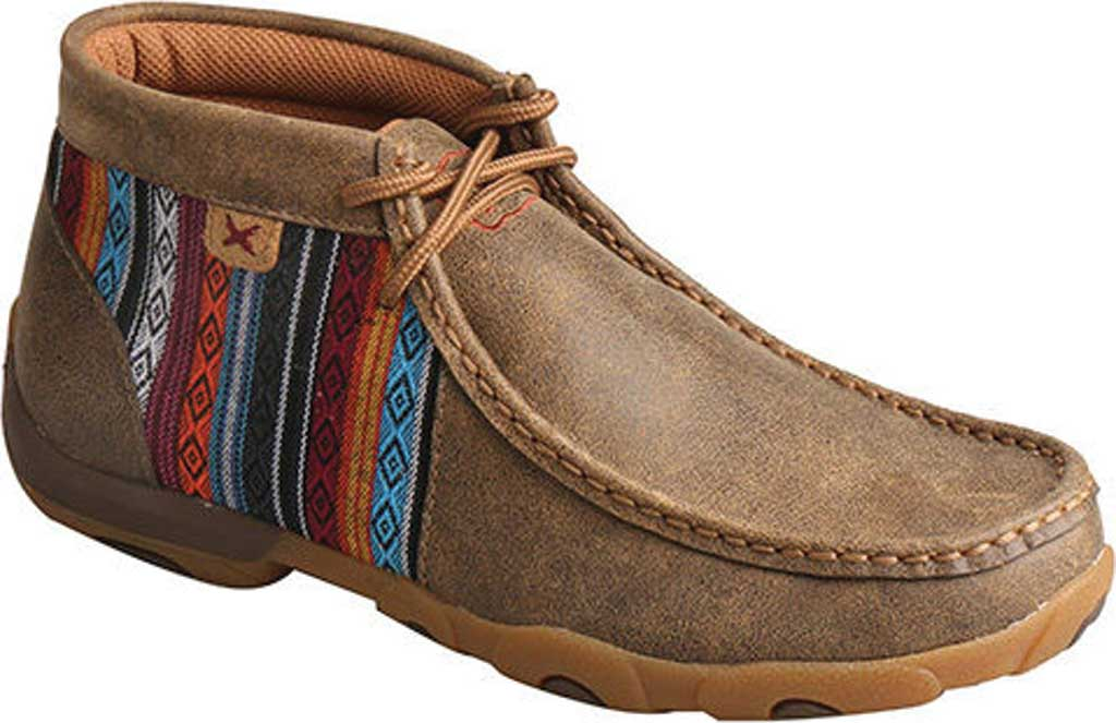 Women's Twisted X WDM0105 Driving Moc, Bomber/Multi Leather/Canvas, large, image 1