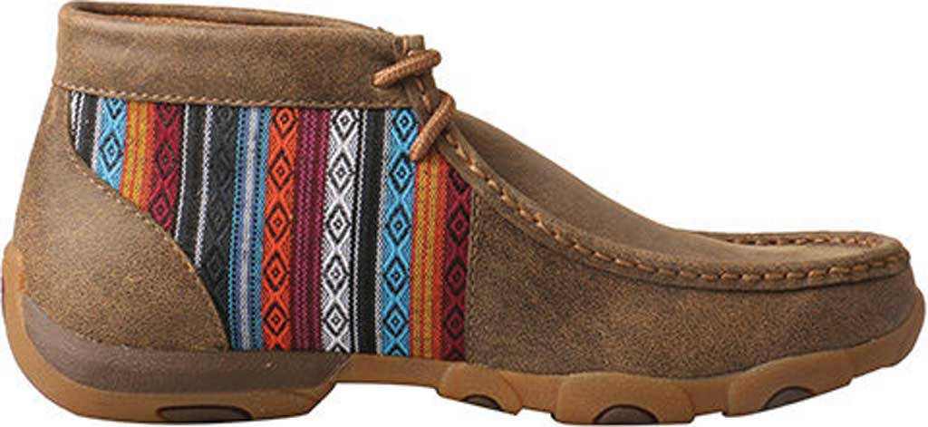 Women's Twisted X WDM0105 Driving Moc, Bomber/Multi Leather/Canvas, large, image 2