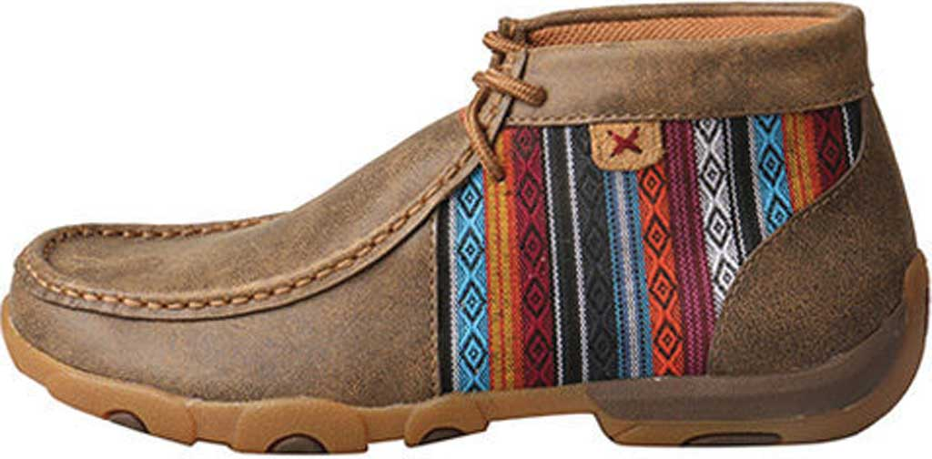 Women's Twisted X WDM0105 Driving Moc, Bomber/Multi Leather/Canvas, large, image 3