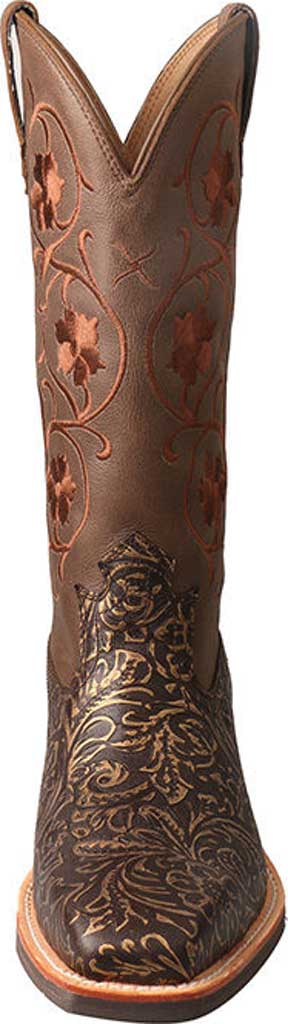 Women's Twisted X WRS0028 Ruff Stock Cowgirl Boot, Tooled/Brown Tooled Leather, large, image 4