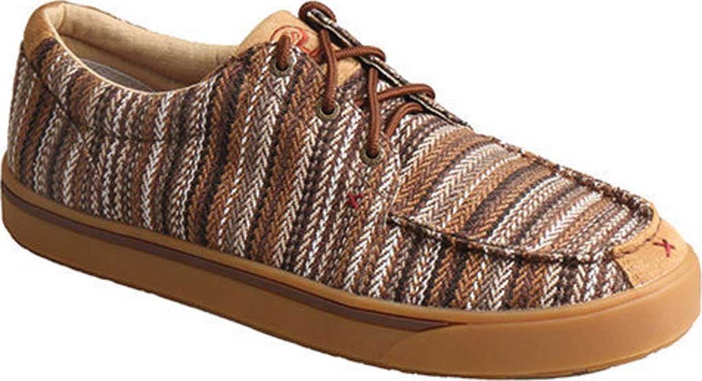 Men's Twisted X MHYC014 Hooey Lopers Moc Toe, Brown/Multi Canvas, large, image 1