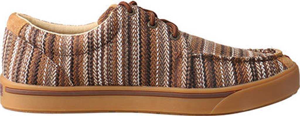 Men's Twisted X MHYC014 Hooey Lopers Moc Toe, Brown/Multi Canvas, large, image 2