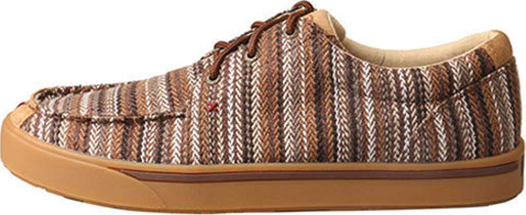 Men's Twisted X MHYC014 Hooey Lopers Moc Toe, Brown/Multi Canvas, large, image 3
