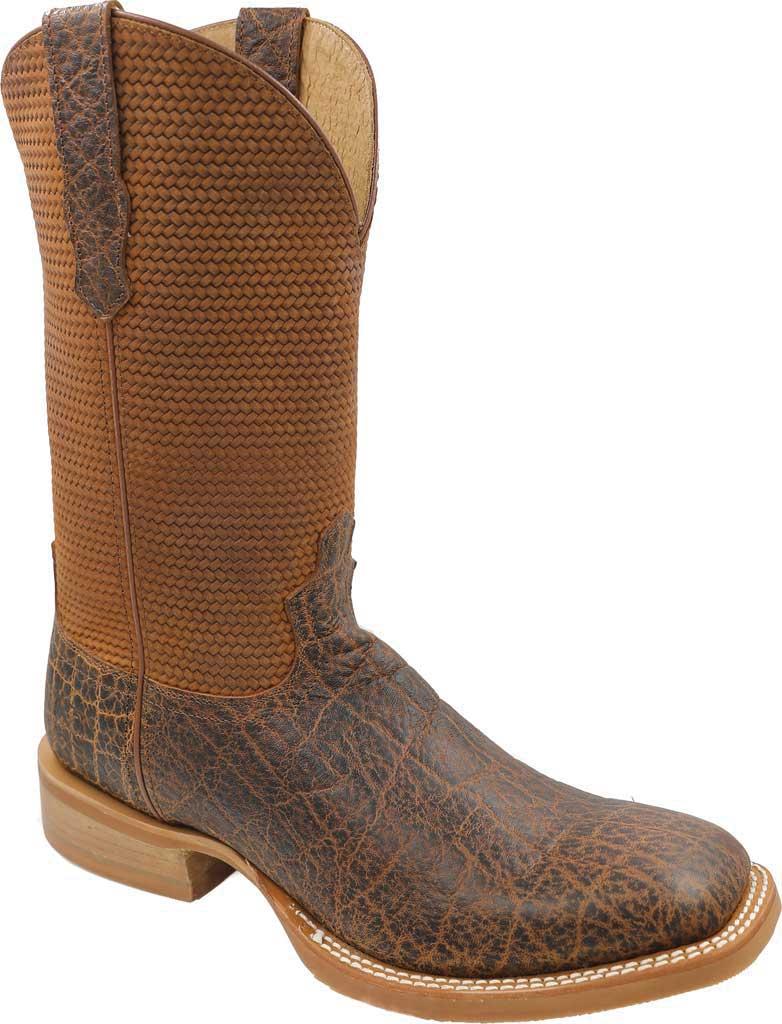 Men's Twisted X MRA0007 Rancher Cowboy Boot, Cognac Elephant Print/Cognac Basketweave Leather, large, image 1