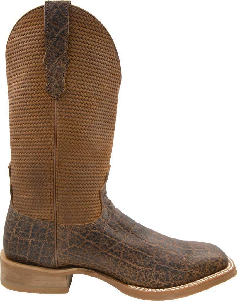 Men's Twisted X MRA0007 Rancher Cowboy Boot, Cognac Elephant Print/Cognac Basketweave Leather, large, image 2