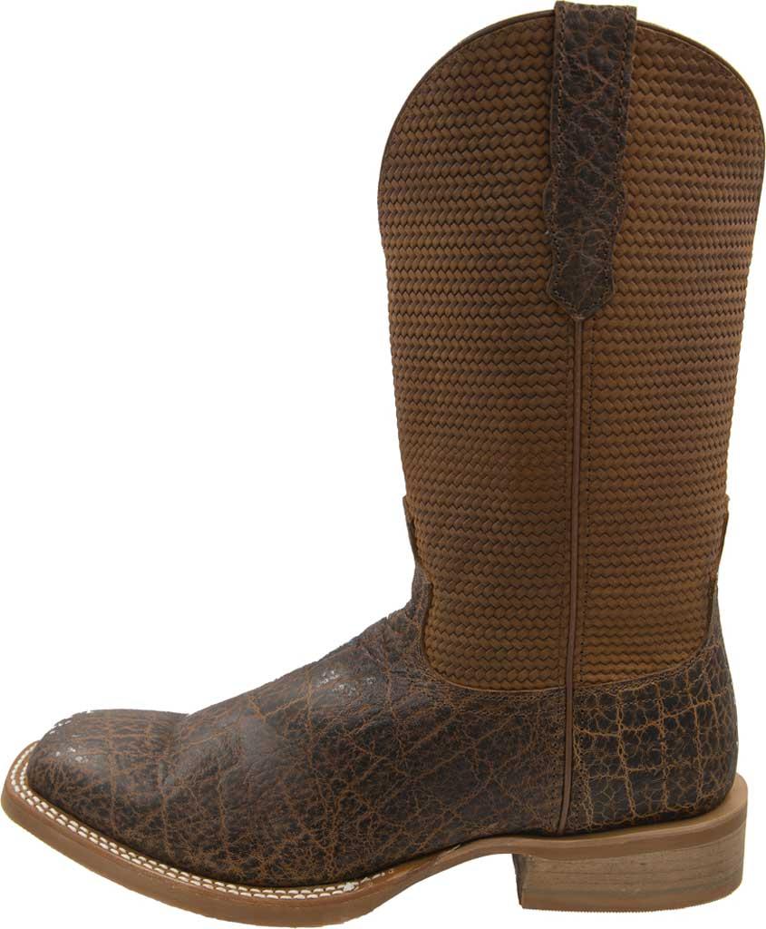 Men's Twisted X MRA0007 Rancher Cowboy Boot, Cognac Elephant Print/Cognac Basketweave Leather, large, image 3