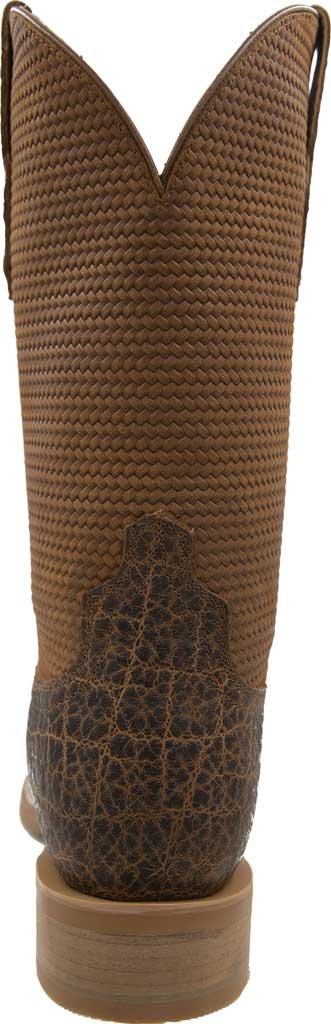 Men's Twisted X MRA0007 Rancher Cowboy Boot, Cognac Elephant Print/Cognac Basketweave Leather, large, image 4
