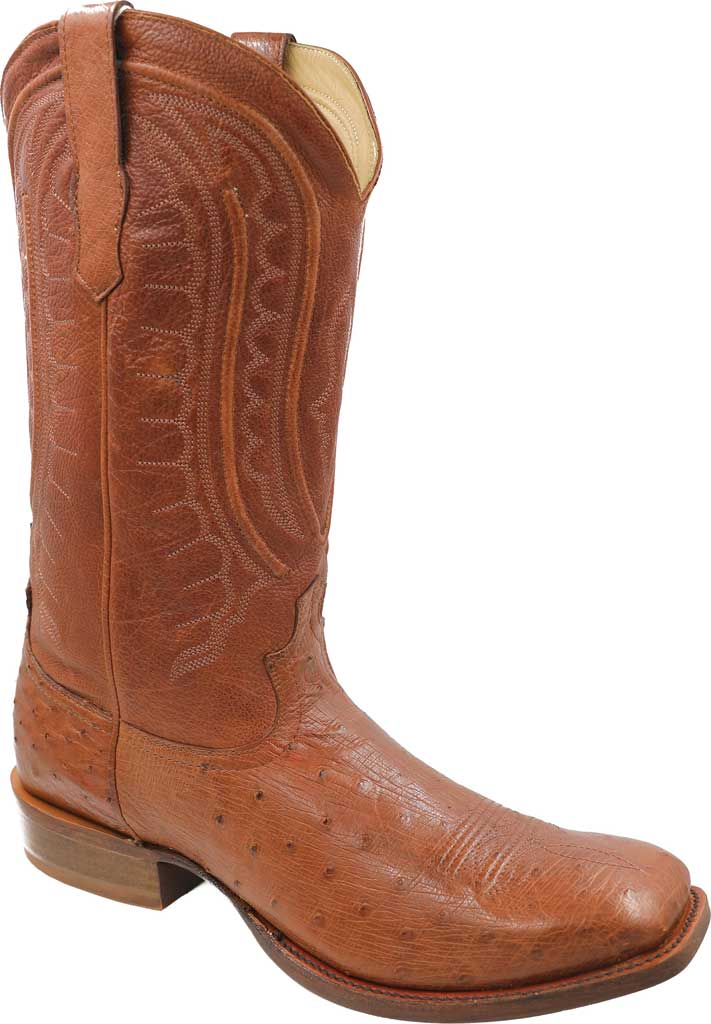Men's Twisted X MRCL001 Rancher Cowboy Boot, Brandy Smooth Ostrich/Brandy Leather, large, image 1