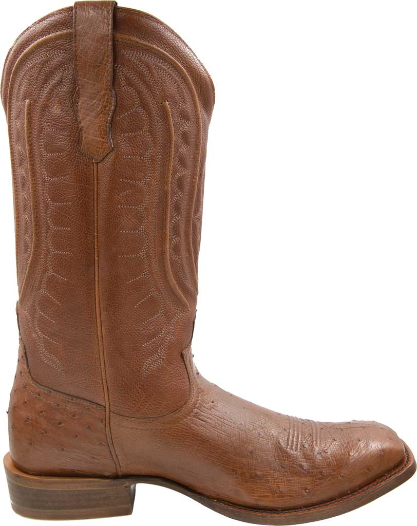 Men's Twisted X MRCL001 Rancher Cowboy Boot, Brandy Smooth Ostrich/Brandy Leather, large, image 2