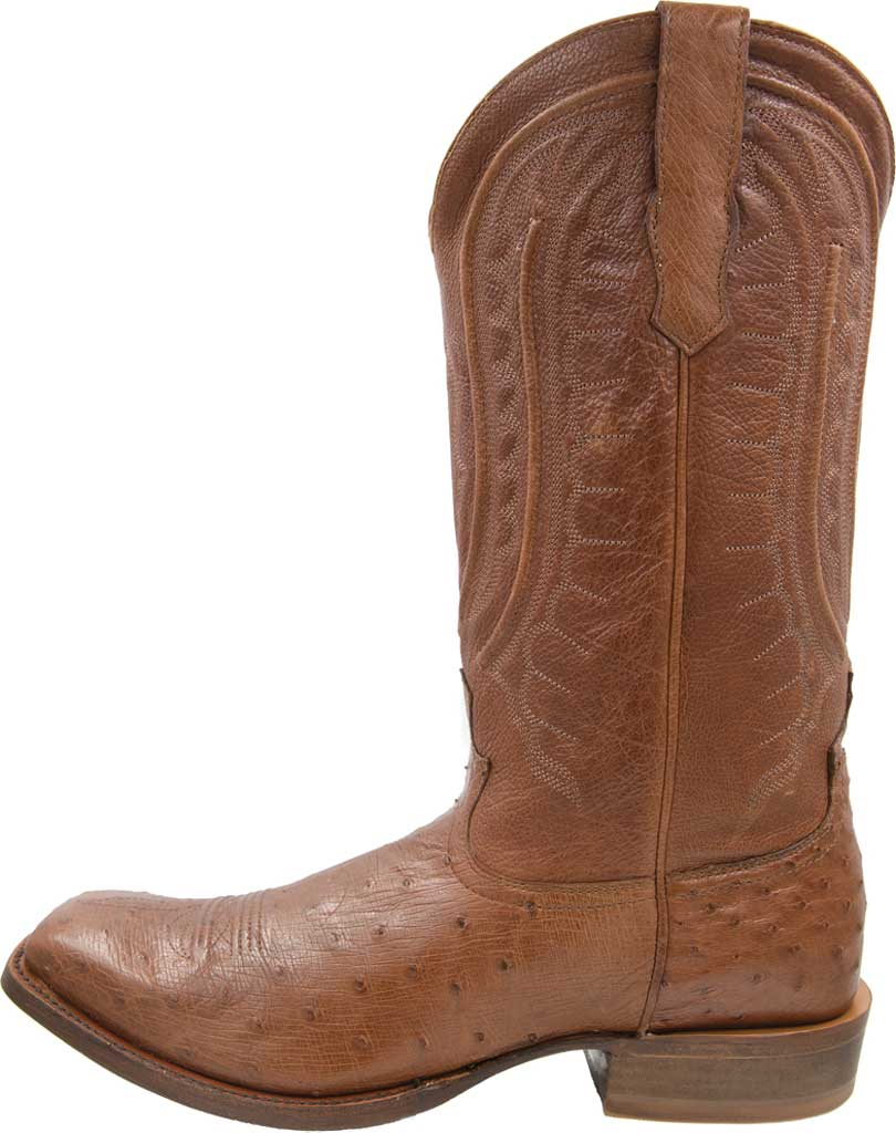 Men's Twisted X MRCL001 Rancher Cowboy Boot, Brandy Smooth Ostrich/Brandy Leather, large, image 3