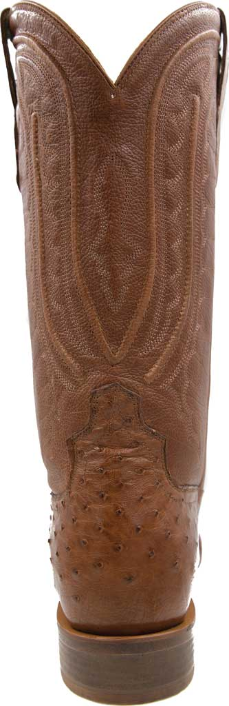 Men's Twisted X MRCL001 Rancher Cowboy Boot, Brandy Smooth Ostrich/Brandy Leather, large, image 4