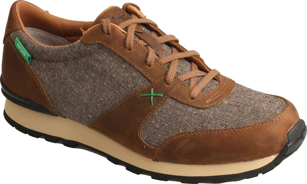 Men's Twisted X MHWA001 Hooey Sneaker, Tan/Dust Leather, large, image 1