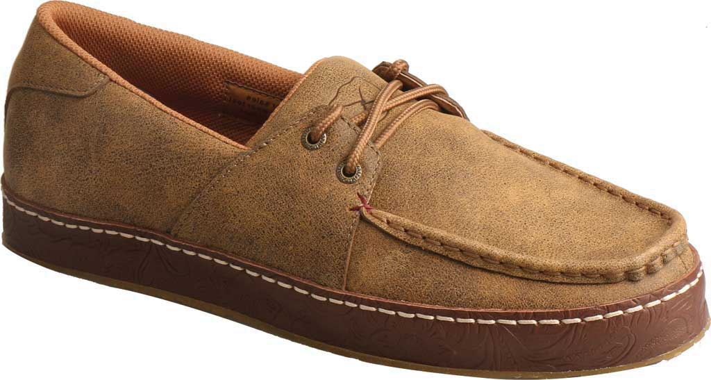 Men's Twisted X MWS0001 Western Moccasin, Light Brown Leather, large, image 1