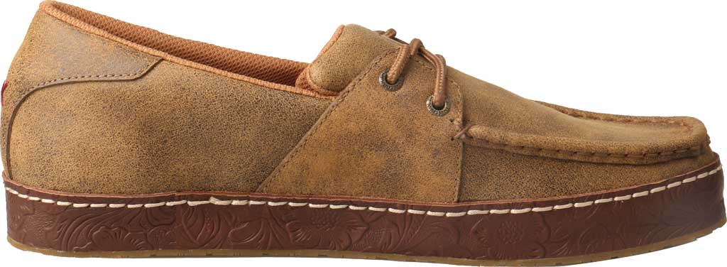 Men's Twisted X MWS0001 Western Moccasin, Light Brown Leather, large, image 2