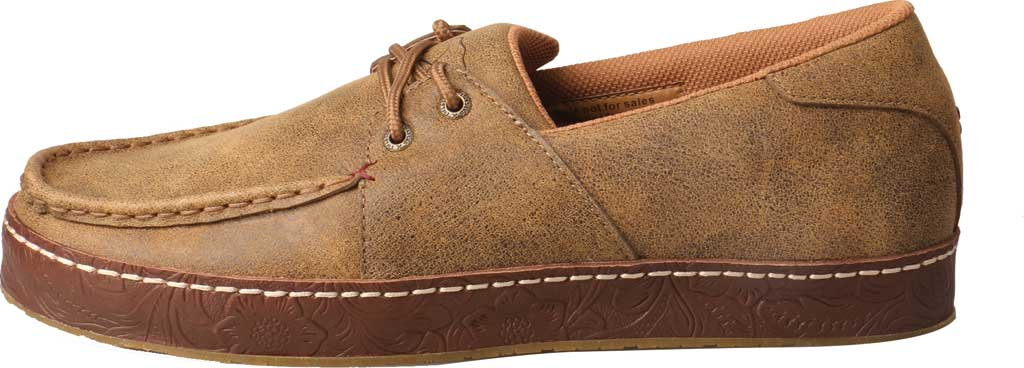 Men's Twisted X MWS0001 Western Moccasin, Light Brown Leather, large, image 3