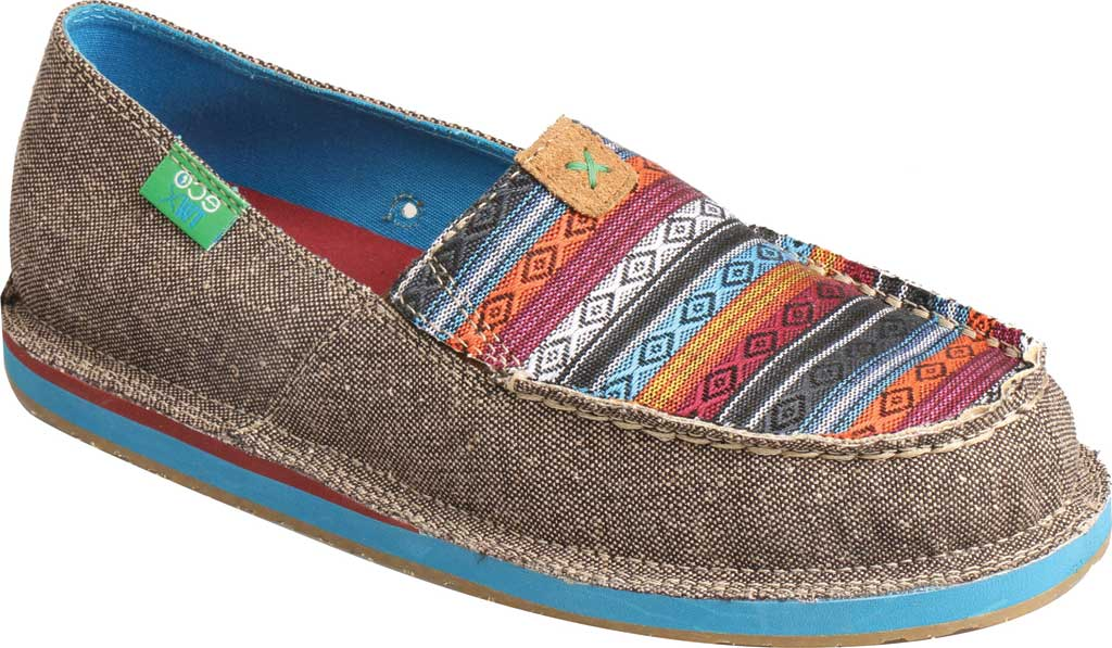 Women's Twisted X WCL0005 ECO TWX Driving Moc Loafer, Dust/Multi Canvas, large, image 1